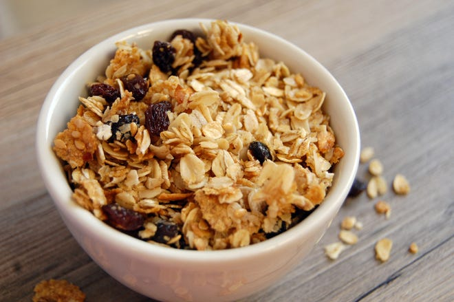This snack is high in fiber and features several Midwestern crops.