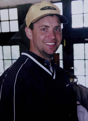 Todd Beamer is shown in this undated family photo which was displayed during his memorial service Sunday, Sept. 16, 2001, at Princeton Alliance Church in Plainsboro, N.J.