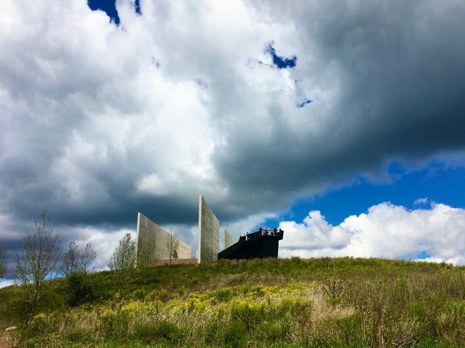The visitors center at the Flight 93 National Memorial is on a hill where United 93 flew over in its final seconds on Sept. 11, 2001.