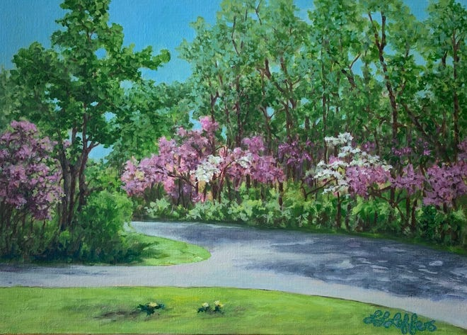 """Studio finish, Redbud at the Spring Dance, McCormick's Creek"" by Laura Lynn Leffers"