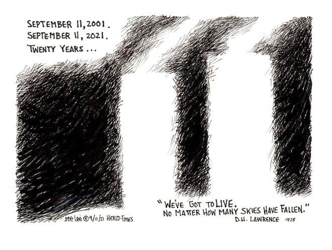 Joe Lee editorial cartoon for 9/11/21