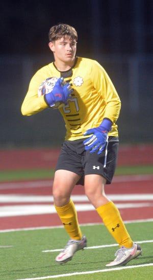 Bethel sophomore goalkeeper Colton Rothwell had six saves in a 3-1 win over Southwestern Christian University Wednesday at Thresher Stadium. Bethel improves to 2-2.