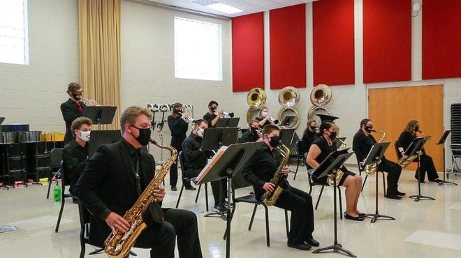 The McPherson College Jazz Band was one of two groups from the college selected to perform at KMEA meetings in Wichita.