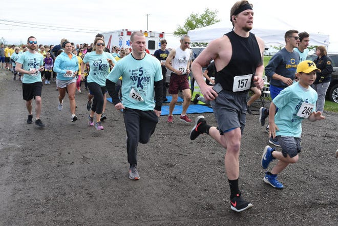 Runners take part in the 2019 Race for the Kids in Erie. This year's event is Sept. 25. Monroe News photo by Tom Hawley