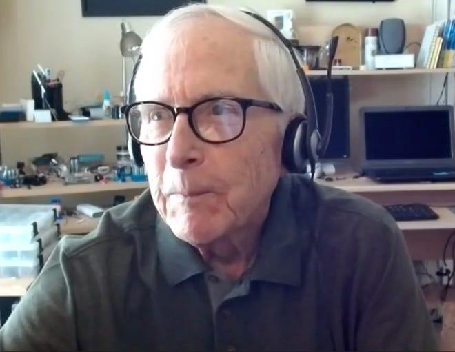 John Bates gives a virtual talk to a Friends of Oak Ridge National Laboratory (FORNL) audience.