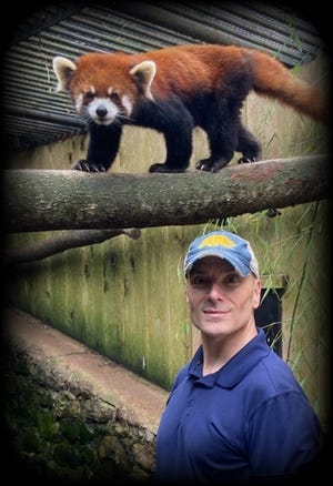 Jay Pratte pictured with red panda