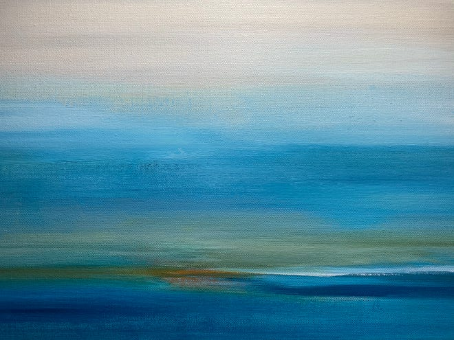 """""""Nothing Gold Can Stay,"""" an acrylic by Steffanie Antonio, will be featured in the Seacoast Moderns exhibit this fall."""