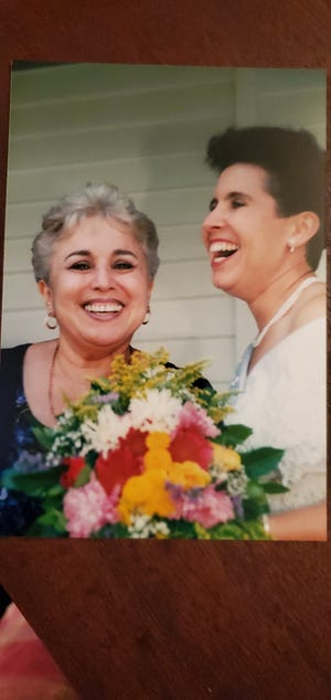 Michelle Olgers with her mother, from Michelle's 2000 wedding in Dinwiddie.