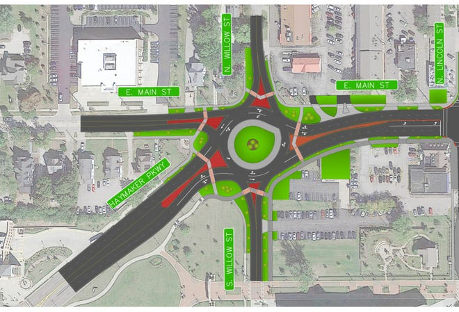 These map segments show, from west to east, what East Main Street in Kent may look like after a $20 million upgrade.