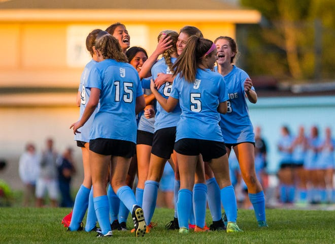Saint Joseph's girls soccer team got a first-round bye in this year's IHSAA sectional. Pairings were drawn Sunday night.