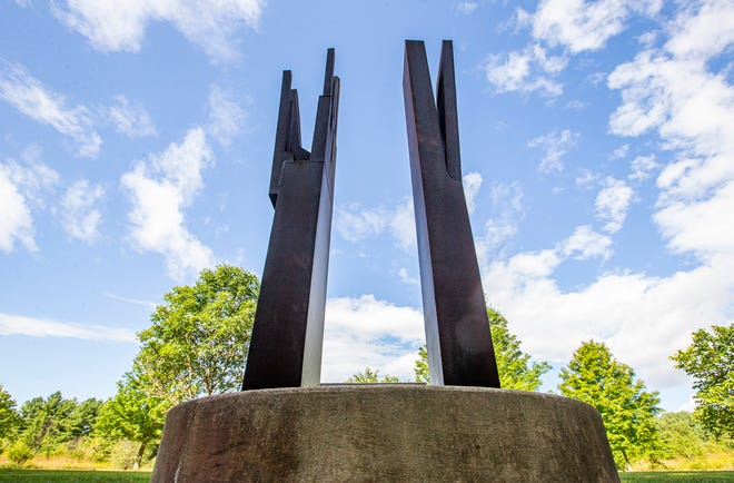 The Standing Tall sculpture at the 9/11 Freedom Memorial on Thursday, Sept. 9, 2021, at St. Patrick's County Park.