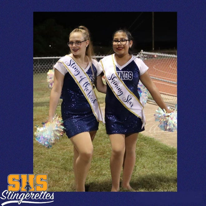 The Stephenville High School Stingerettes are proud to recognize these dancers for their efforts the week of the Sept. 3 pep rally and varsity football game. Tama was awarded Sting of the Week and Vianey was the Shining Star.