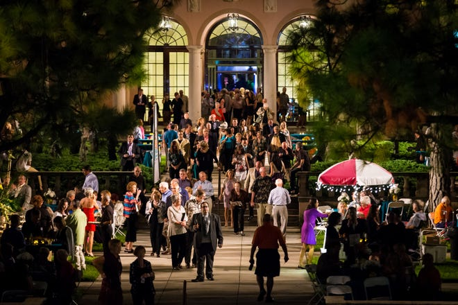 Crowds gather during the Ringling International Arts Festival, which operated for nine years at The Ringling.