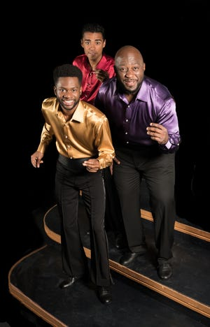 From left, Raleigh Mosely II, Michael Mendez and Leon S. Pitts will perform for the Westcoast Black Theatre Troupe at the Sarasota Arts Live event on St. Armands Circle.