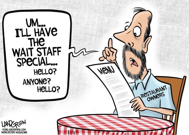 Restaurant wait staff shortage