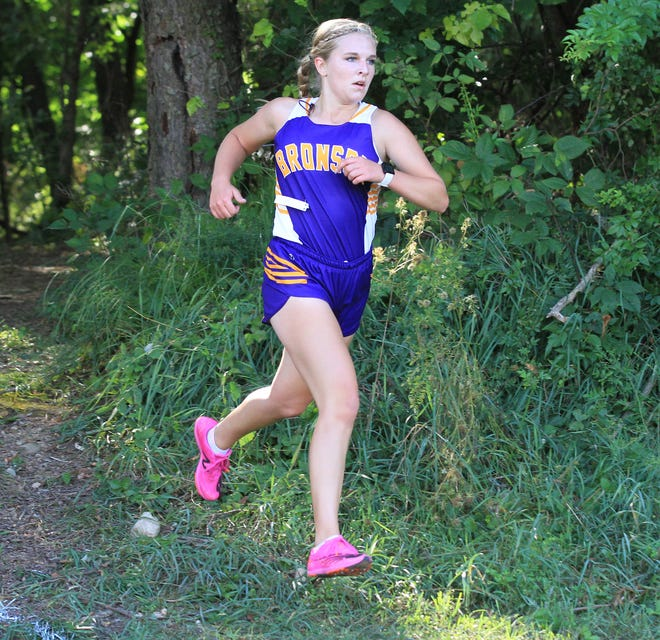 Sidney Swick of Bronson finished second overall against Centreville on Wednesday.