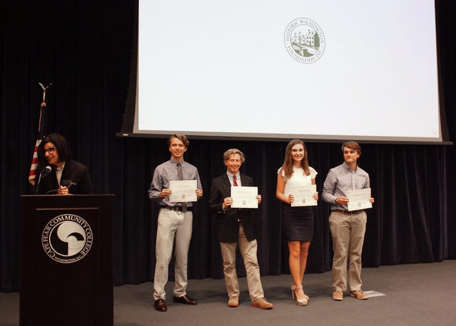 Historic Wilmington Foundation's third annual  Impact of Preservation High School Speech Contest. The 2019 winners were: Connor McNamar, Brooks Meine, Sarah Beth Howard, and Eelco Tinga IV.