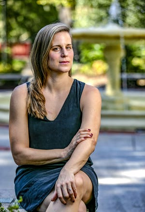 """Gainesville author Lauren Groff is shown at the Thomas Center in October 2018. The """"Fates and Furies"""" author released her latest novel """"Matrix"""" on Tuesday. [The Gainesville Sun/File]"""