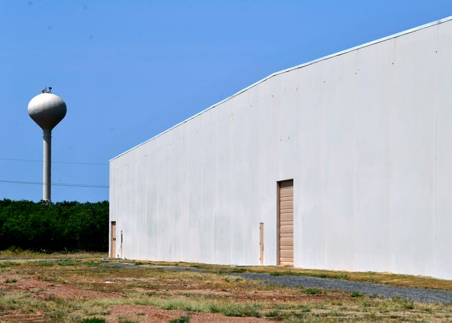 The former Zoltek warehouse at 1121 Fulwiler Rd. The building will be the future location of an Amazon delivery station.