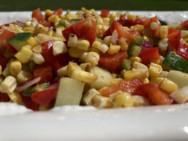 Southwest Roasted Corn Salad