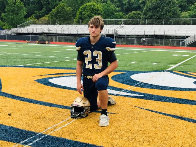 Lancaster senior Caleb Sampson has had to endure the loss of his father and grandfather, but he stayed the course and was voted as one of the team captains of the Golden Gales' football team by his teammates.