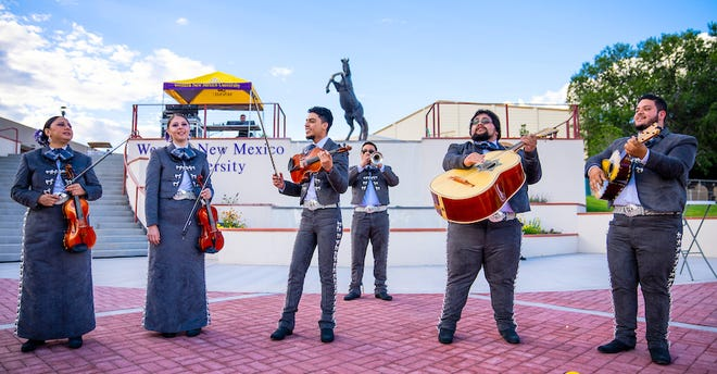 Pictured are student musicians with Mariachi Plata de Western New Mexico University, which will perform at the Albuquerque Isotopes Mariachis de Nuevo México promotional game on Tuesday, September 14, when WNMU Provost Dr. Jack Crocker will throw the first pitch.