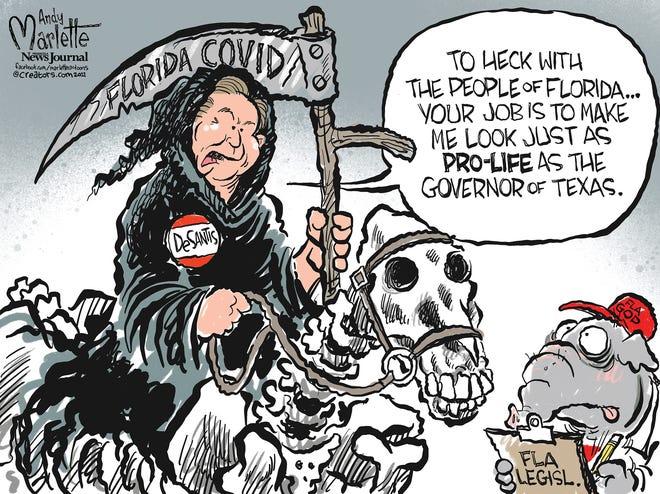 Marlette cartoon: Ron DeathSantis to go pro-life?