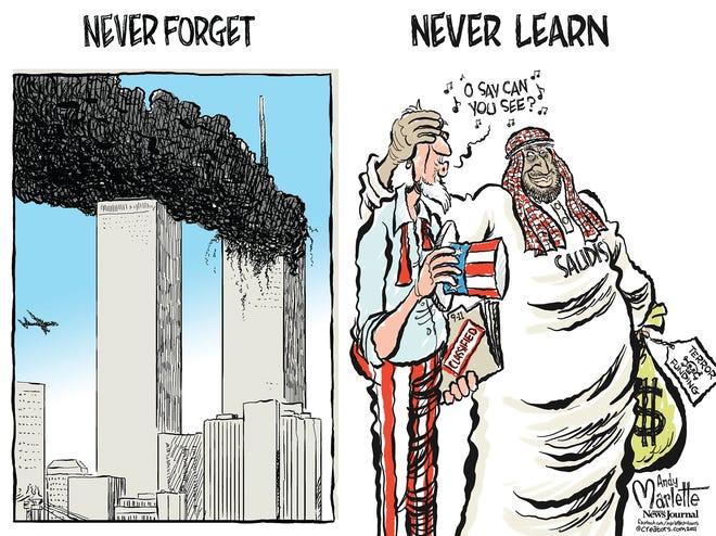 Marlette cartoon: Never forget?