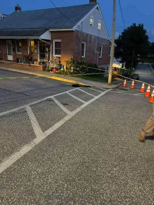 Hellam Township Police warned parentsthat asinkhole has openednear Wrightsville Elementary School.
