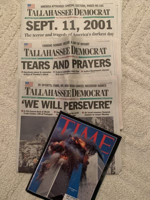 Headlines saved from Sept. 11, 2001.