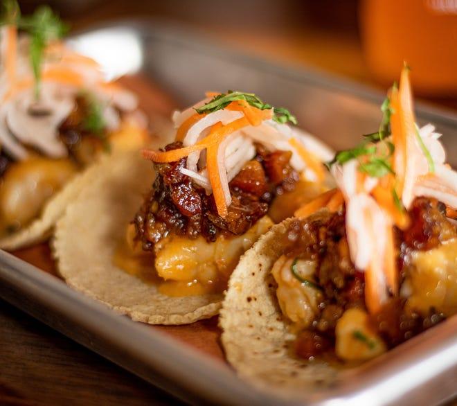 Shrimp tacos from Craft Taqueria in New City.
