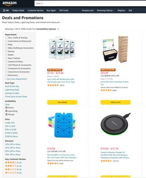 Time is valuable, and so don't waste it by scrolling through pages of products when you can take advantage of the custom search tabs along the left-hand side of Amazon.com. Tick the boxes to narrow down your search.