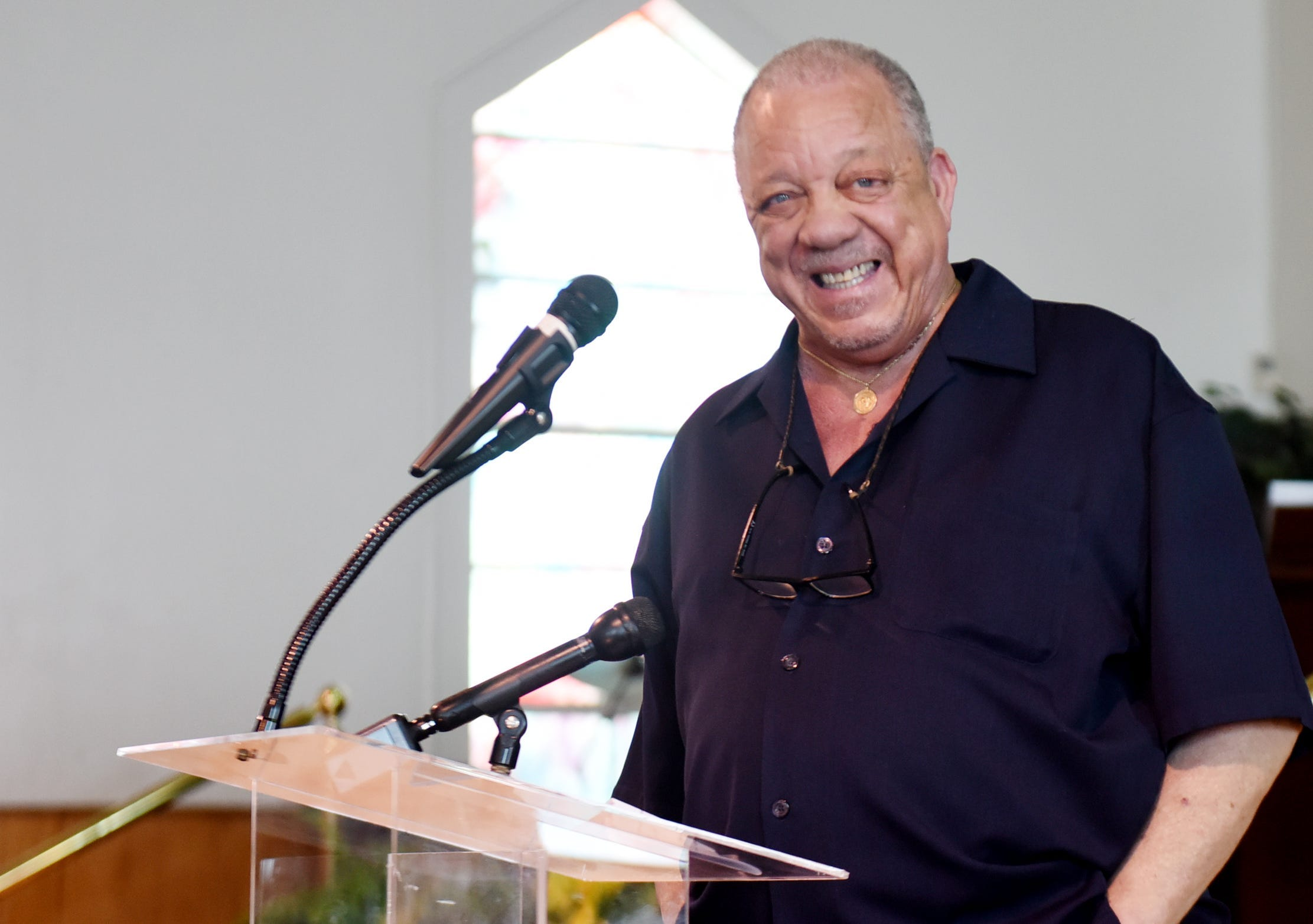1960s Civil Rights Worker and Freedom Rider Dave Dennis speaks at Little Union Baptists Church on June 18, 2021, in Shreveport, La.