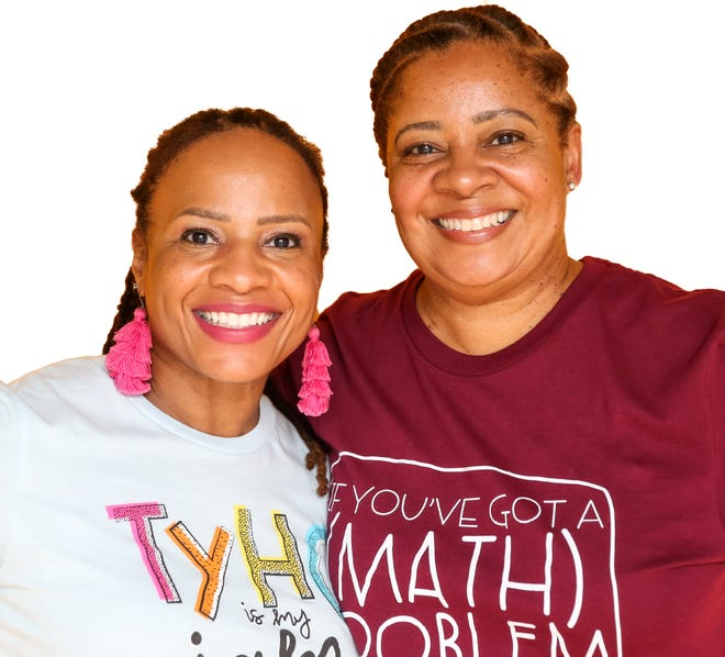 Lisa Dunnigan and Tosha Wright own The Wright Stuff Chics, an online apparel store selling graphic tees and gifts for teachers.