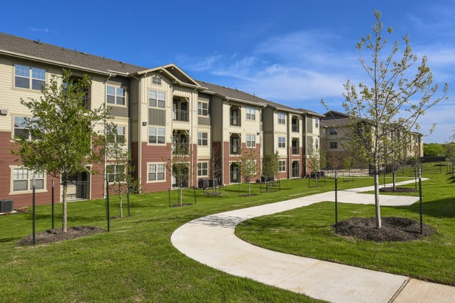 This apartment complex developed by the NRP Group in Kyle resembles a housing project called the James on Grand Avenue on which NRP has started construction north of Austin. The 275-unit complexin Williamson Countywill help addresshousing demand for individuals and familiesearning 60% or less of the Austin area's median income, the developer says.