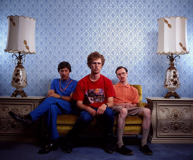 """Actors Jon Gries, Jon Heder and Aaron Ruell appear as their """"Napoleon Dynamite"""" characters. Heder and Gries will participate in a moderated discussion and screening of the movie Oct. 8 at the Akron Civic Theatre."""