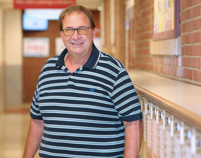 Alliance City Schools tutor Marty Cvelbar is The Alliance Review's Robertson Heating Supply Teacher of the Month for September 2021. He was photographed Sept. 8, 2021, at Parkway Learning & Development Center.