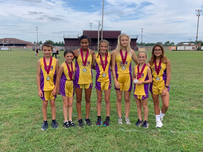 Pictured from the left are: Nick Wheeler, Ella Villalobos, Aneliese Hodges, Liva Knowles, Ella Bruketta, Claire Fournier and LT Deiphuis.