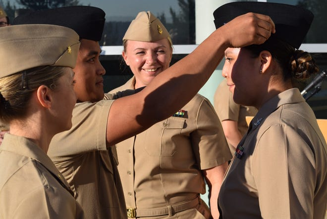 Petty Officer 2nd Class Kyra James, a Columbia College graduate, was named by the U.S. Navy as junior sailor of the quarter.