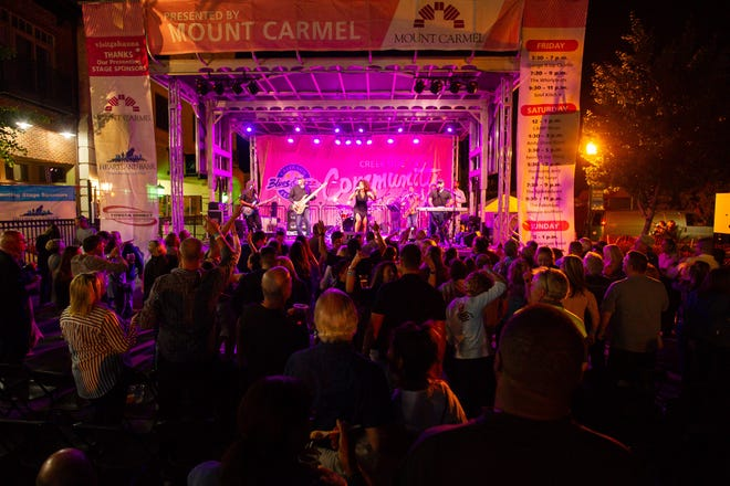 A past edition of the Creekside Blues & Jazz Festival.