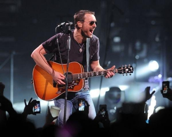 Eric Church and his sunglasses, which some say are permanently affixed to his face.