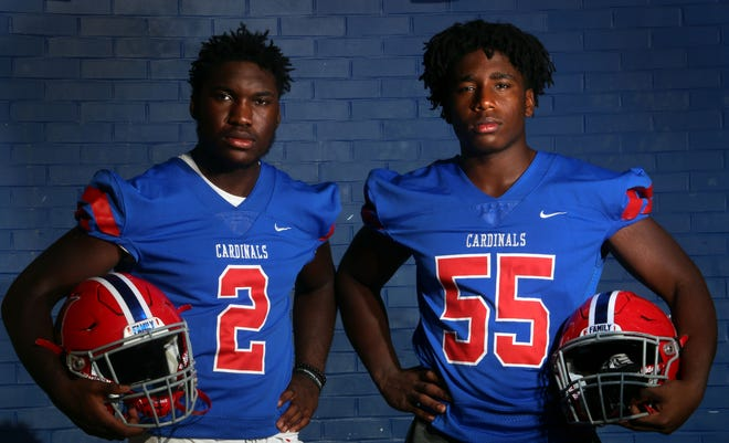 The Brewu brothers – Anthony, a junior, and Francis, a sophomore – are key players for the Thomas football team. Both contribute on the defensive line, and Anthony also has provided a spark at running back.
