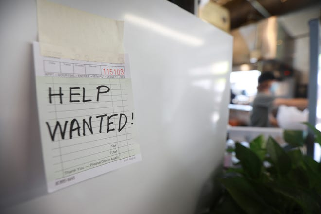 A restaurant's help wanted sign was recently written, appropriately enough, on a server's ticket.