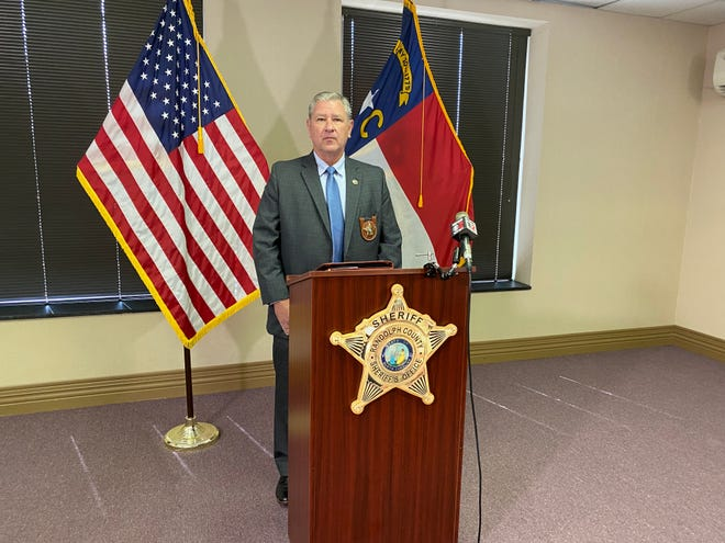 Randolph County Sheriff Greg Seabolt broke silence on the campaign investigation at a press conference on Sept. 10, 2021.