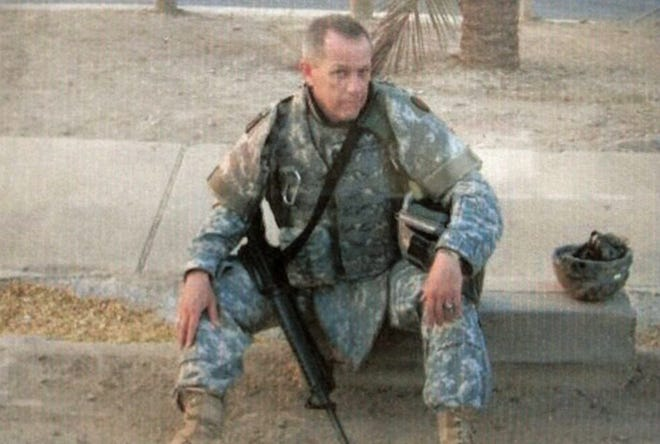 Marty Pendergraft is seen in this picture while serving in the Army in Iraq.