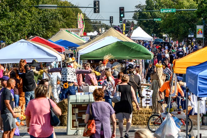 Area residents fill Main Street in downtown Garden City for the 2019 Fall Fest celebration. Over 100 vendors participated in the event that included local entertainment, food and activities a well as a car show. This year's event will make a return after a year off for the COVID-19 pandemic.