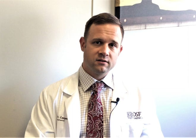 Dr. Josh Carpenter, a hospitalist at OSF St. Mary Medical Center in Galesburg.
