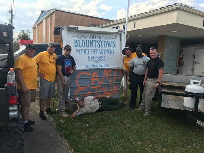 Blountstown Police Department and Liberty County Sheriff's Office organized the collection of relief supplies to send to the Gonzales Police Department.