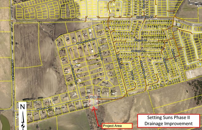 The Sherman City Council has approved a $112,000 contract for improvements in the Setting Suns Estates aimed at alleviating flooding concerns.