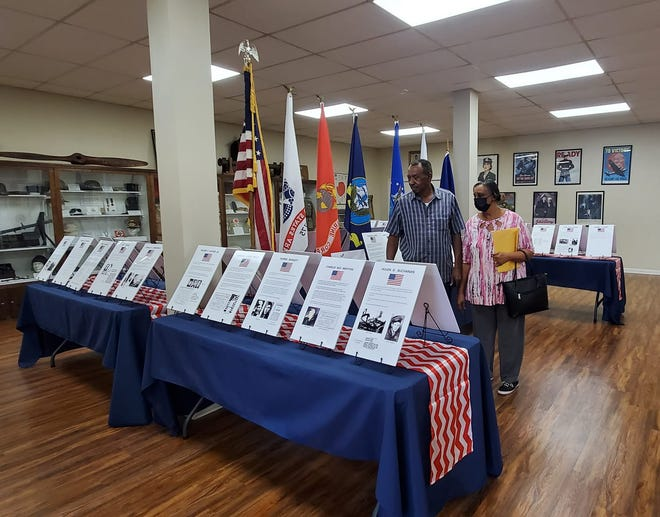 Ellis and Cynthia Jones visited the WWII Respect and Remembrance Exhibit.